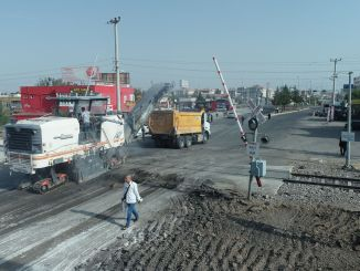 elazig boulevard research hospital connection road is being renewed