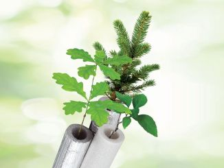 saplings are protected with izocam peflex