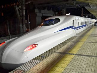 Train services suspended in Japan