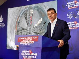Kaynarca Pendik Tuzla Metro Hattı 2. TBM Çıkış Töreni Düzenlendi