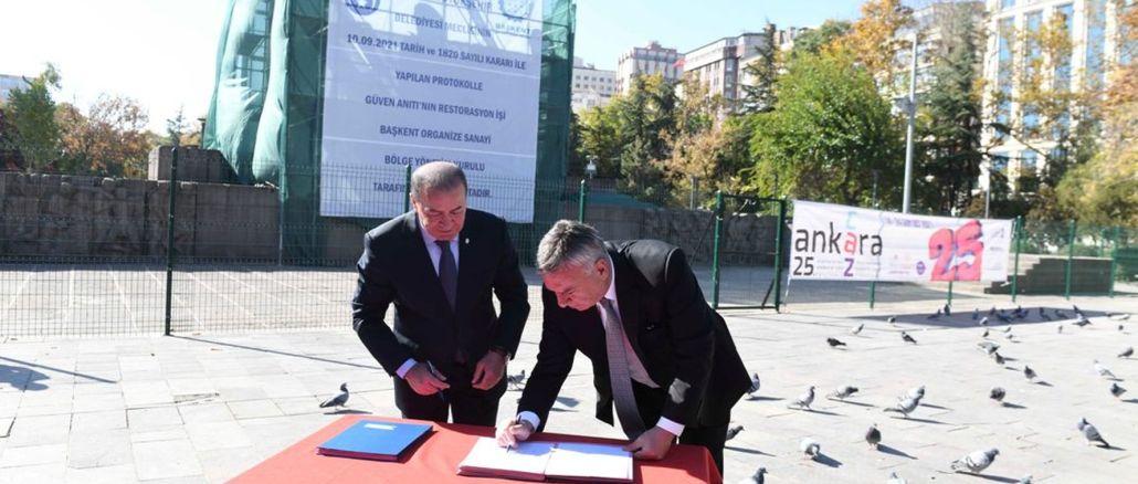 Kızılay Güven Anıtı Restorasyonu İçin Düğmeye Basıldı