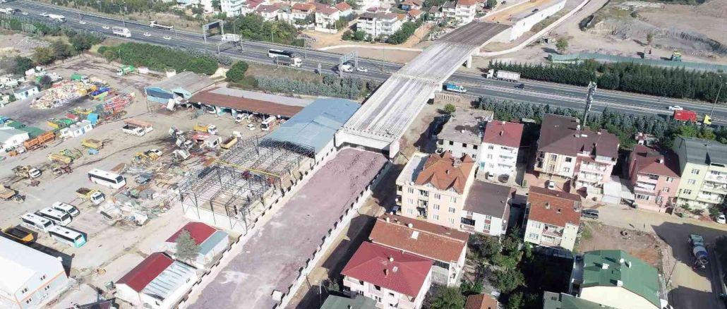 Kocaeli tem highway crossing beams completed