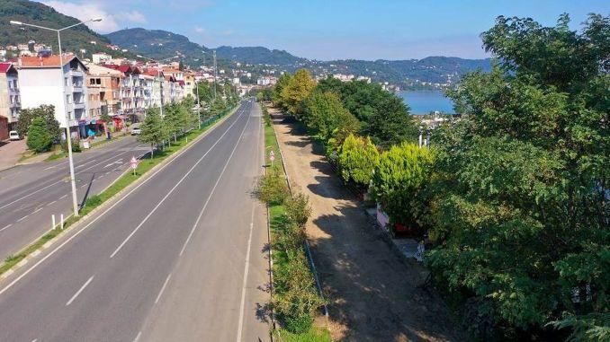 Die Arbeiten am Donnerstagsprojekt Fahrrad und Grüner Gehweg haben begonnen