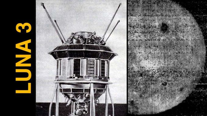 today in history, the soviet space rocket luna took the first photos of the invisible side of the moon