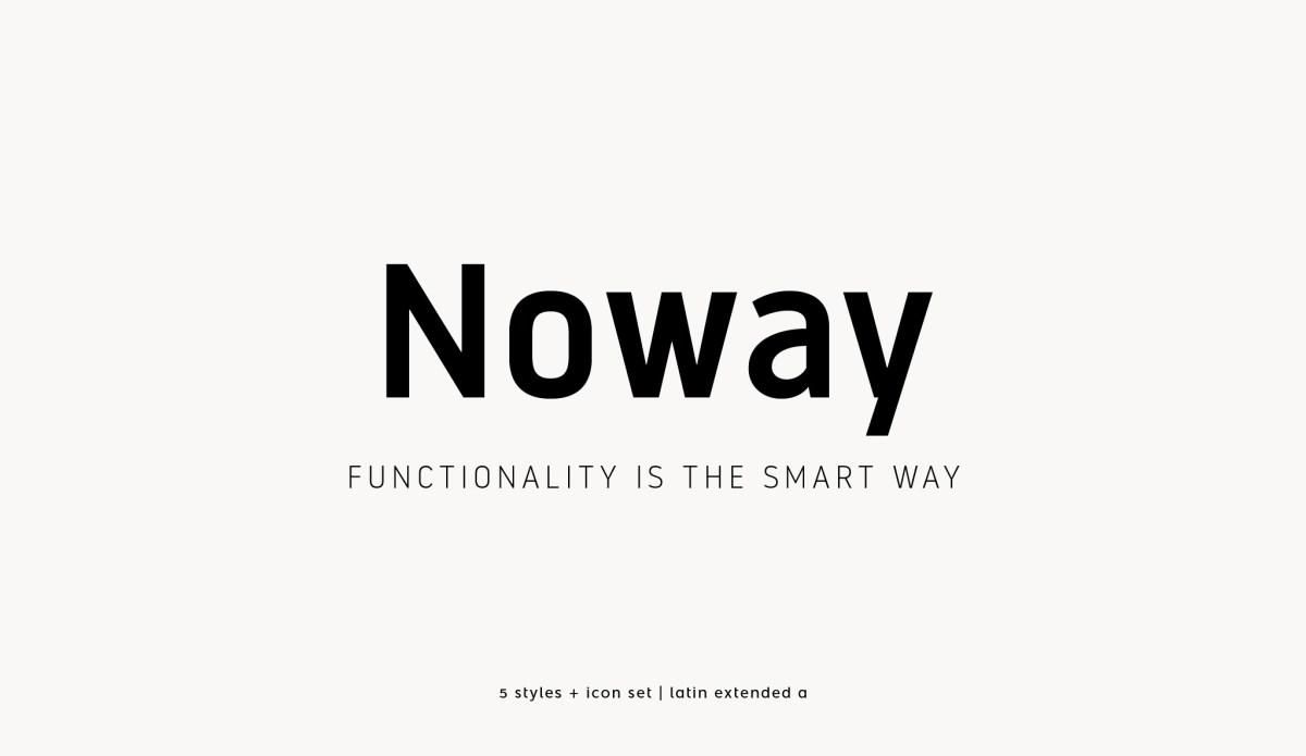 Tipografía Noway