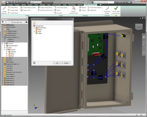 small resolution of importing the wires in inventor