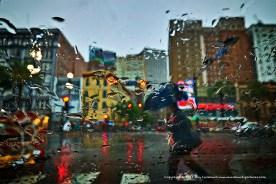 Summer rain storm.