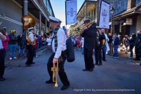Dancing brass band.