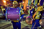 Vibrant color and a drummer.