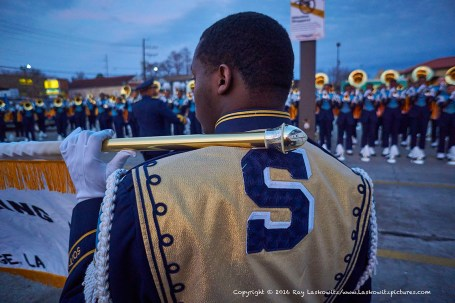 Southern University banner carrier.