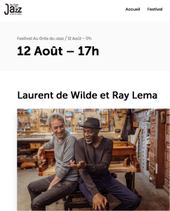 """Ray Lema & Laurent de Wilde au Festival """"Au Grès du Jazz""""- Petite Pierre"""