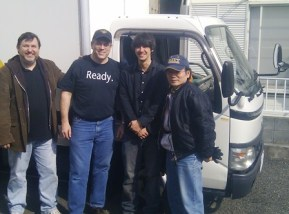 From right to left - me with Steve, James and Kazuo