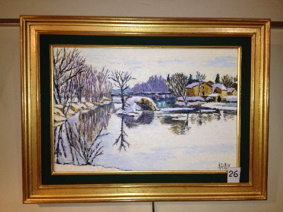 AUBRY Raymonde LES ROUSSES 39 Jura FrancheComt France Artiste peintre franais