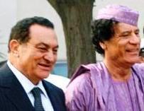 Mubarak and Gaddafi