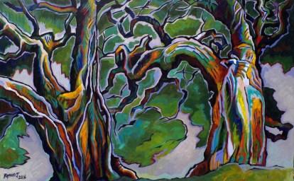 Pohutukawa - 1210 x 730mm - oils on canvas