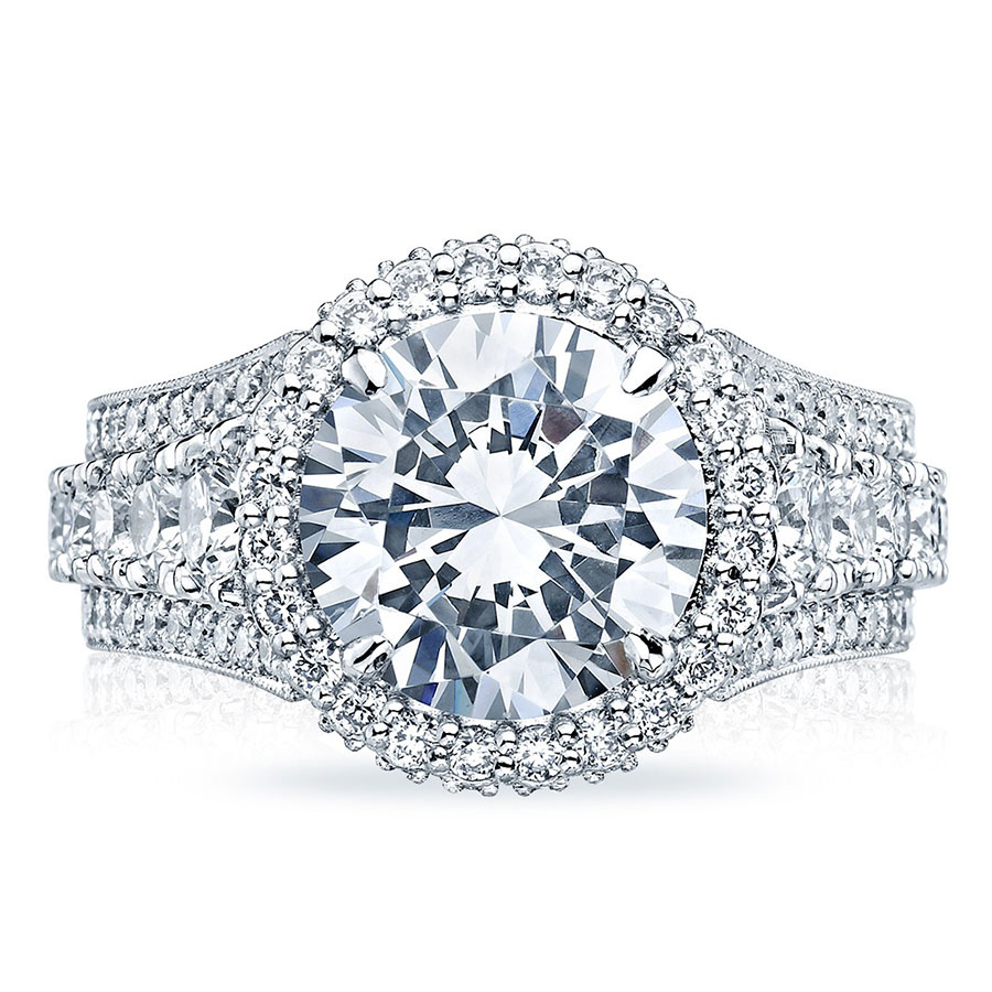 Tacori Engagement Rings RoyalT Halo Setting 243 ctw