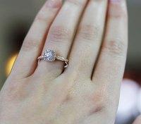 Rose Gold Engagement Rings Tacori 18k 0.25ctw