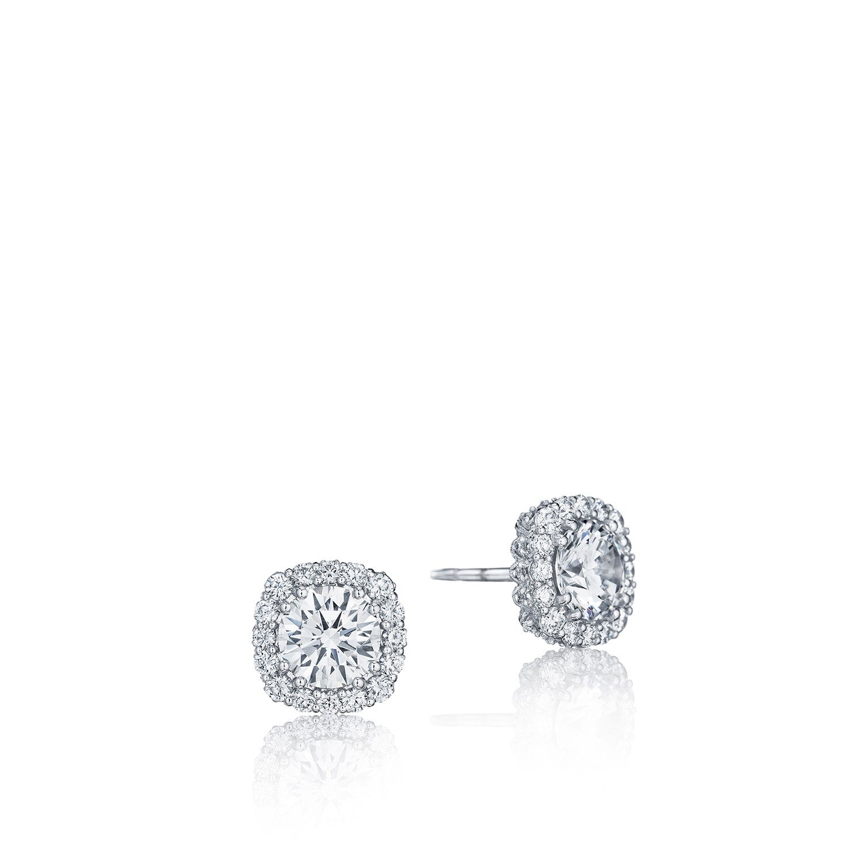 Tacori Engagement Rings Cushion Bloom Diamond Stud Earrings