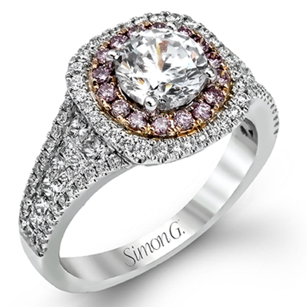 Simon G Engagement Rings 098ctw Diamond Setting Pink Diamonds