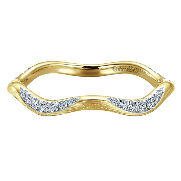 Gabriel & Rings 14k Yellow Gold Diamond Stackable Ring