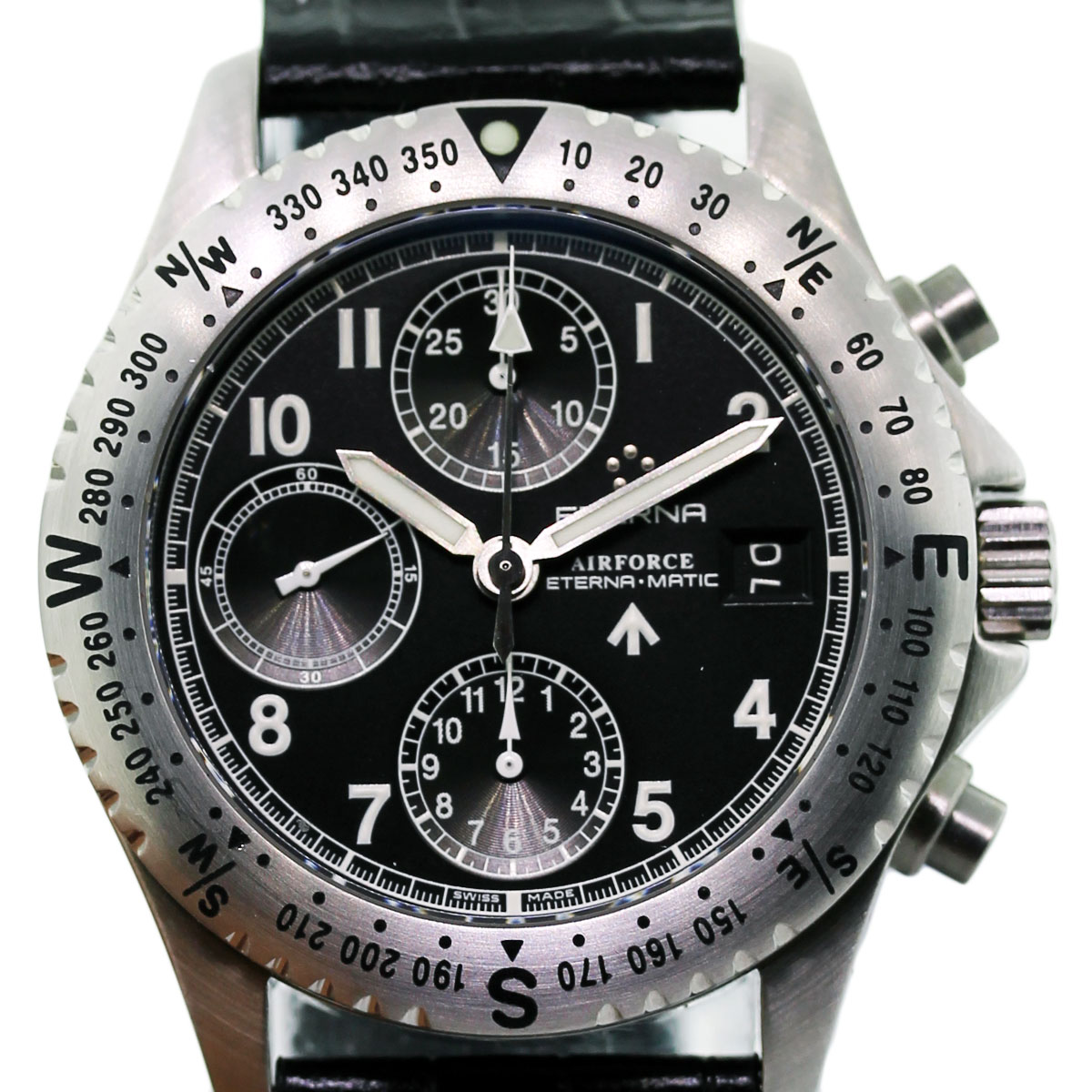Eterna Chrono Airforce 841841401106 Chronograph Mens Watch