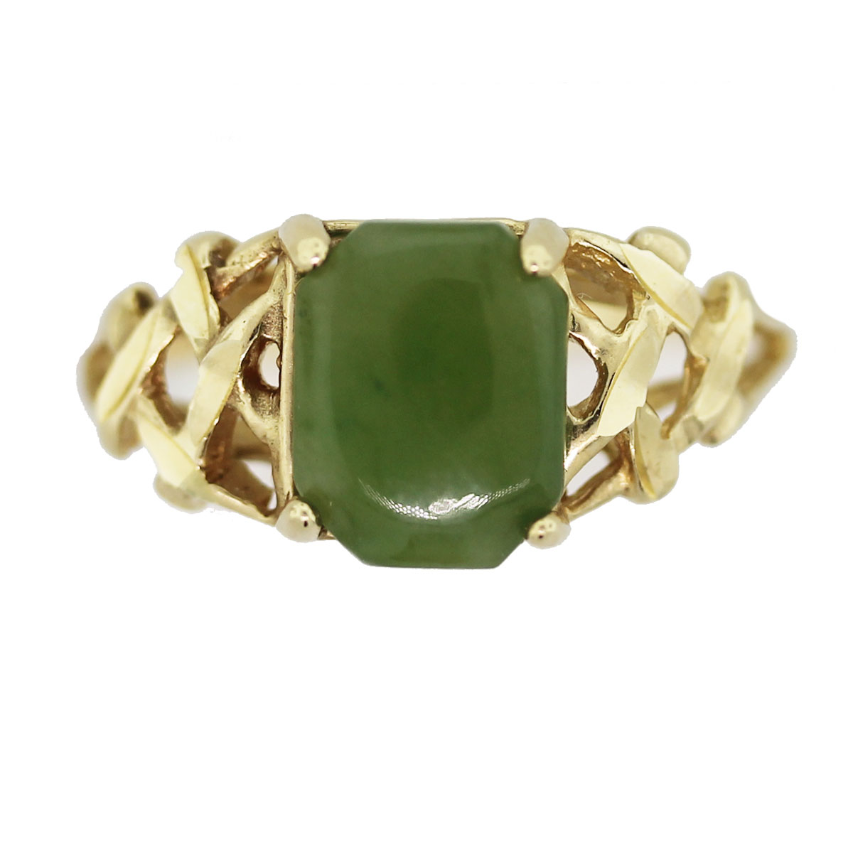 14K Yellow Gold Jade Ring Boca Raton