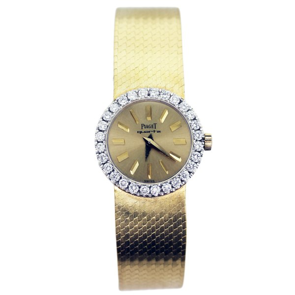 Piaget 18k Yellow Gold And Diamond Ladies Quartz Watch