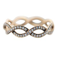 Tiffany and Co Rose Gold Diamond Infinity Ring- Boca Raton
