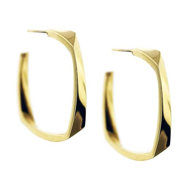 Tiffany & Frank Gehry Torque Earrings 18k Yellow Gold