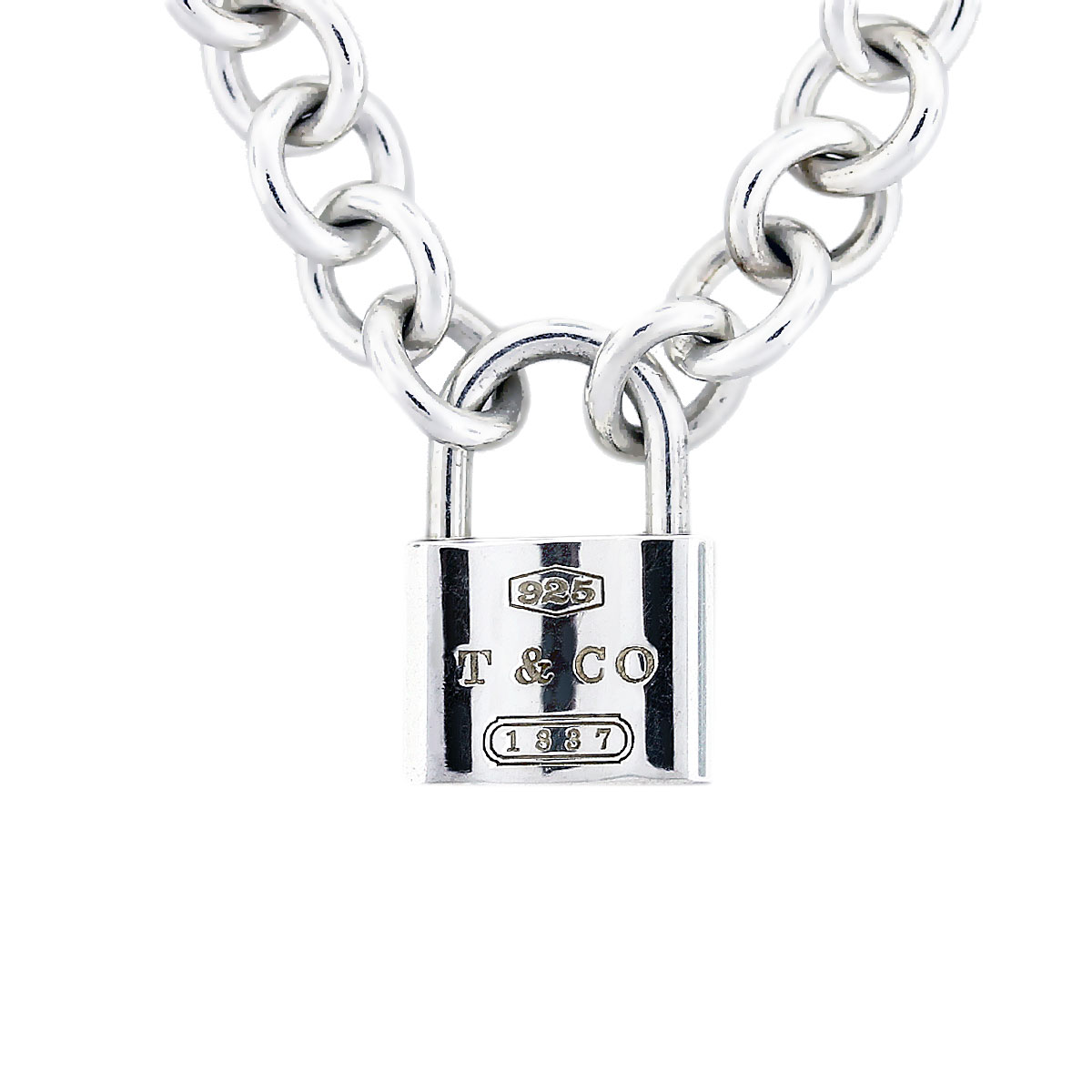 Tiffany Amp Co Sterling Silver 1837 Lock Necklace