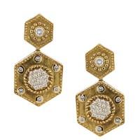 Charriol Celtique Collection Octagonal Dangle Earrings ...