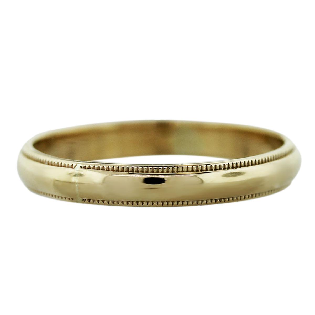 14k Yellow Gold 1.6dwt Mens Wedding Band Ring