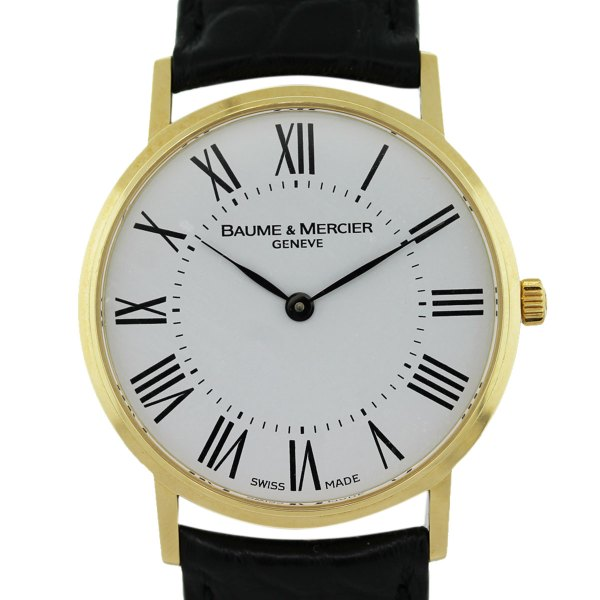 Baume & Mercier Moa08070 Classima 18k Yellow Gold Watch