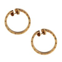 Bvlgari 18k Rose Gold Large B.Zero1 Hoop Earrings