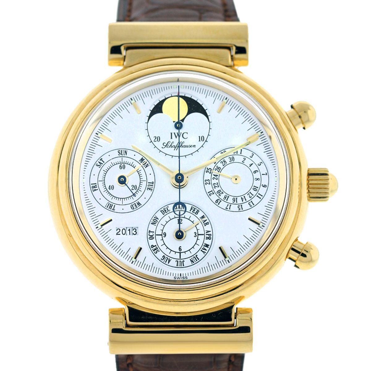 IWC Da Vinci Perpetual Calendar Yellow Gold Mens Watch