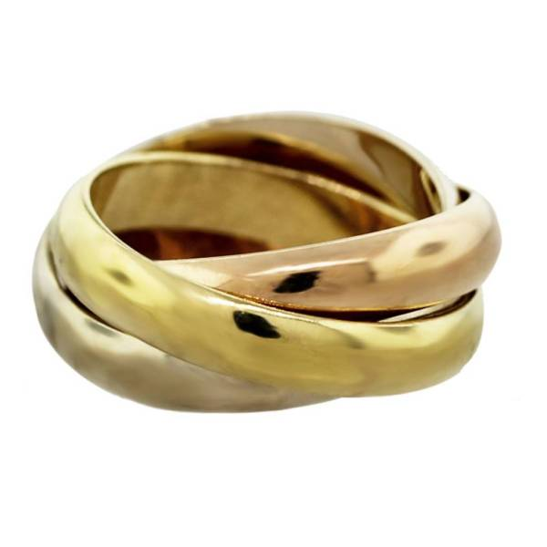 Cartier Trinity De Tri-color 18k Gold Ring-boca Raton