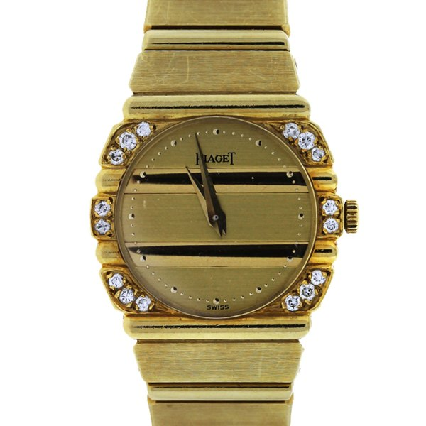 Piaget Polo 861c701 18k Yellow Gold Diamond Ladies Watch