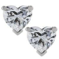 Tiffany and Co. Platinum Heart Brilliant Cut Diamond Earrings