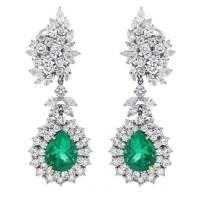 Emerald Diamond Drop Earrings   www.pixshark.com - Images ...