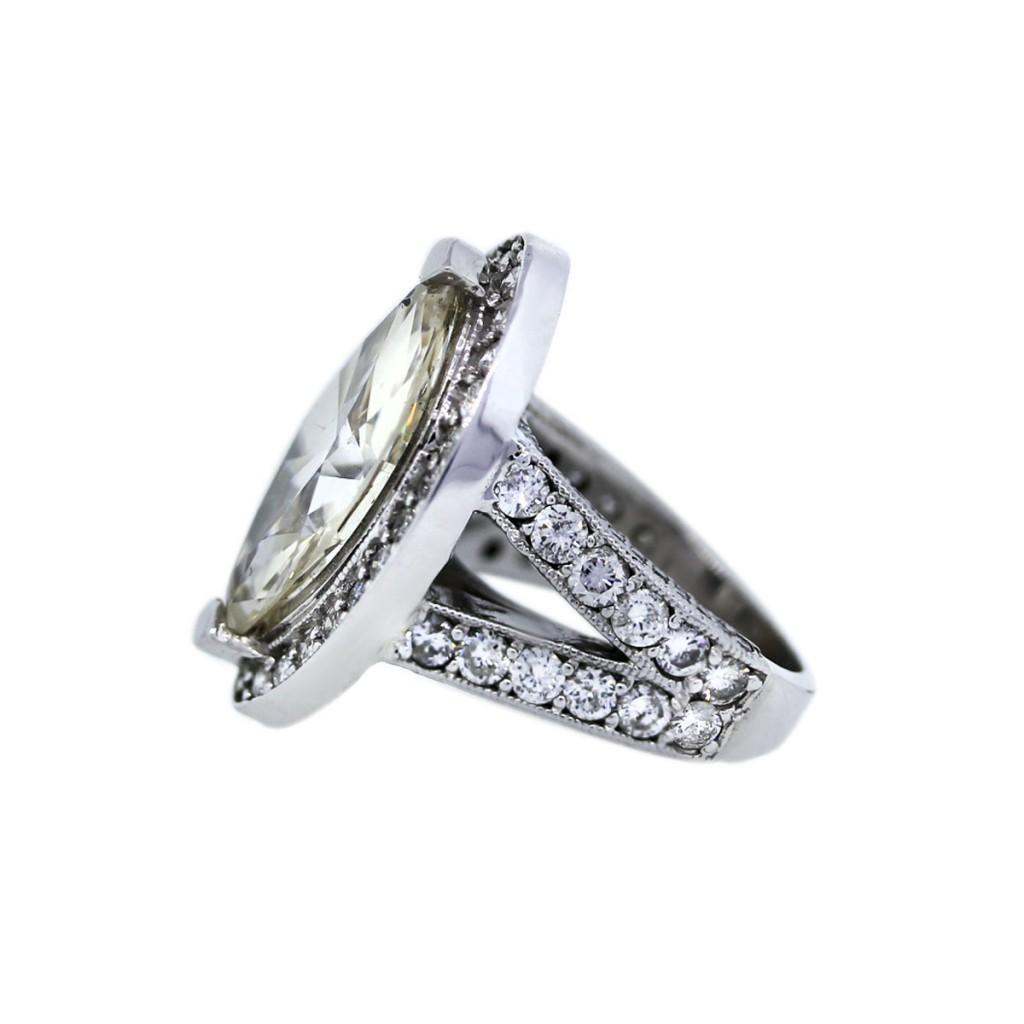 14k White Gold 720ct Marquise Diamond Engagement Ring