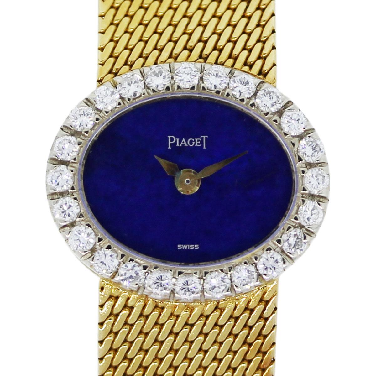Piaget Mini 18k Yellow Gold DiamondLapis Dial Ladies