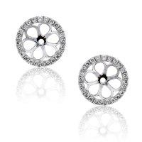 18k White Gold Diamond Stud Earring Jackets - Boca Raton