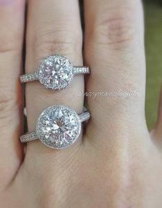 carat halo vs engagement ring also diamond size guide rh raymondleejewelers