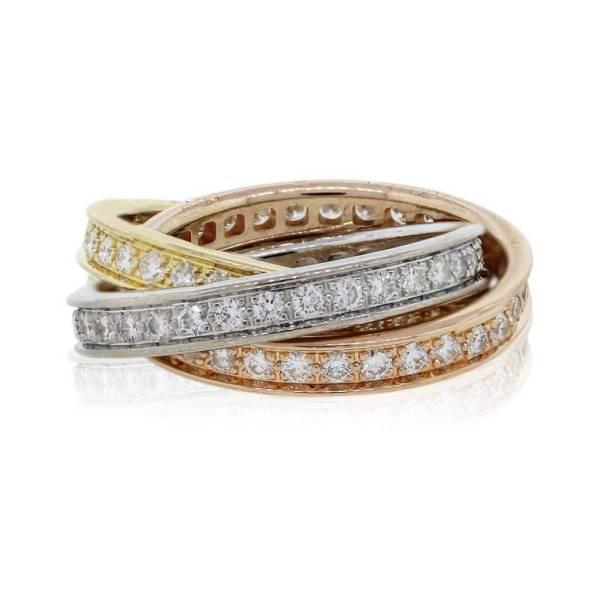 Cartier Diamond Trinity Rolling Ring