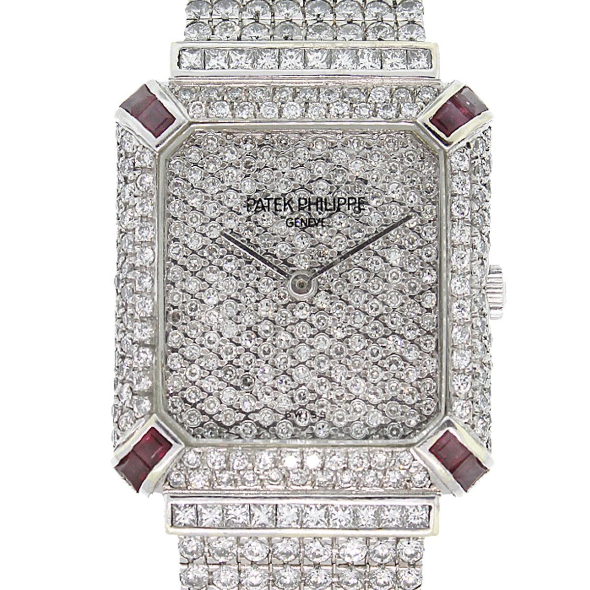 Patek Philippe Gondolo 18k White Gold Custom Diamond
