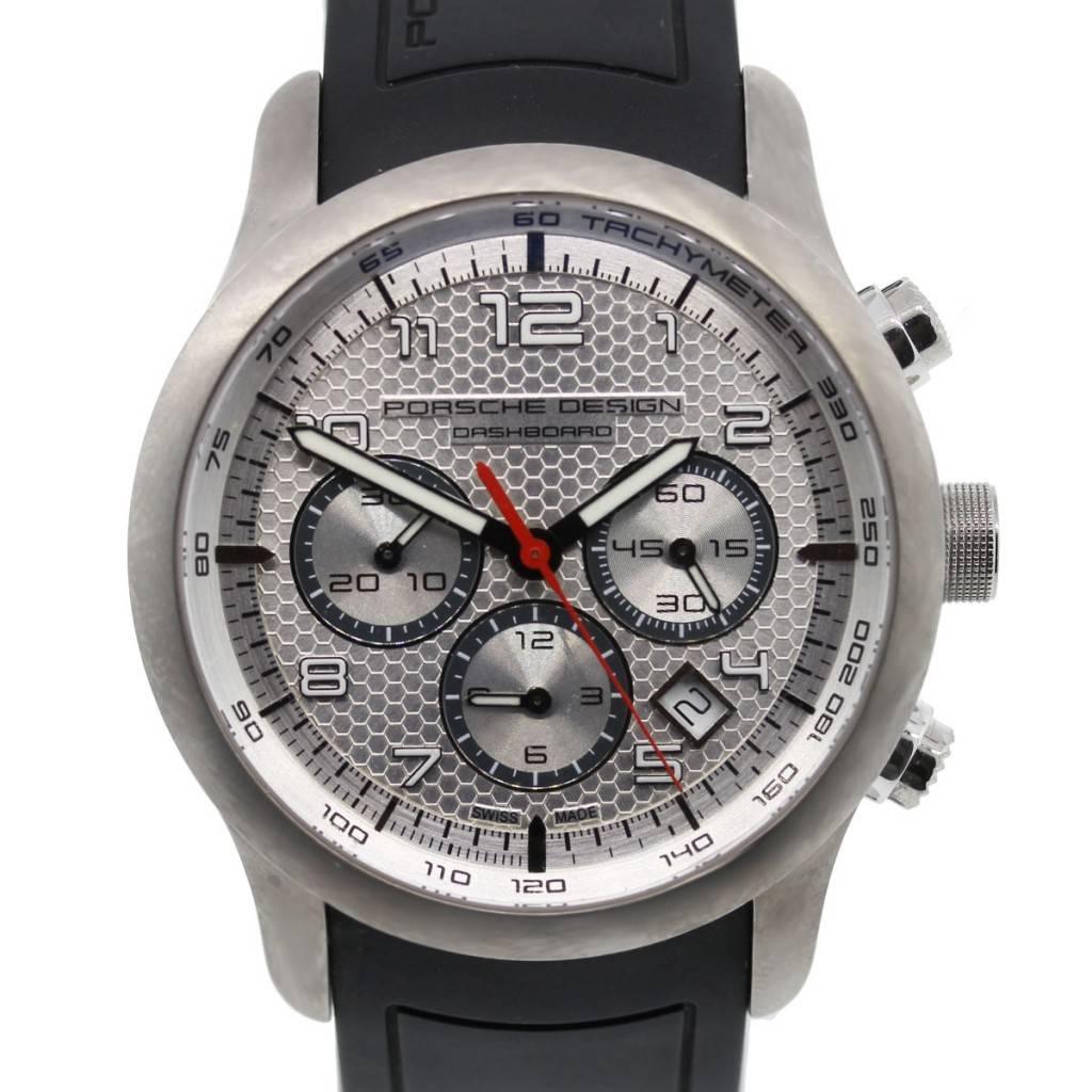 Porsche Design Dashboard Titanium Rubber Band Watch