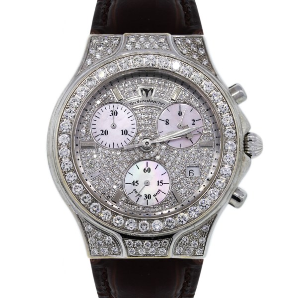 Technomarine Diva . 0042 Diamond Watch Leather Strap