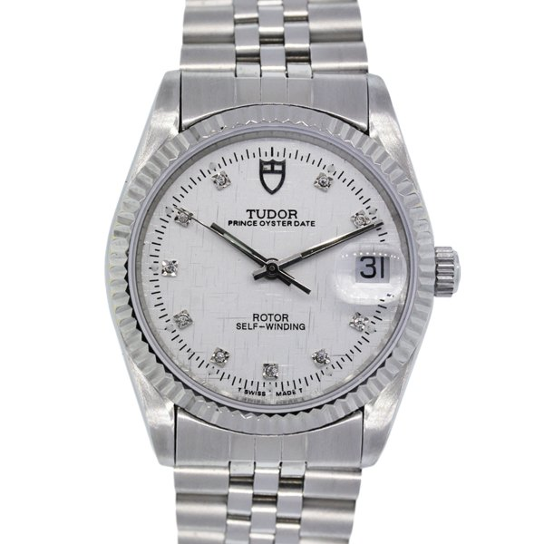 Tudor 74000 Oyster Prince Date Diamond Dial Stainless ...
