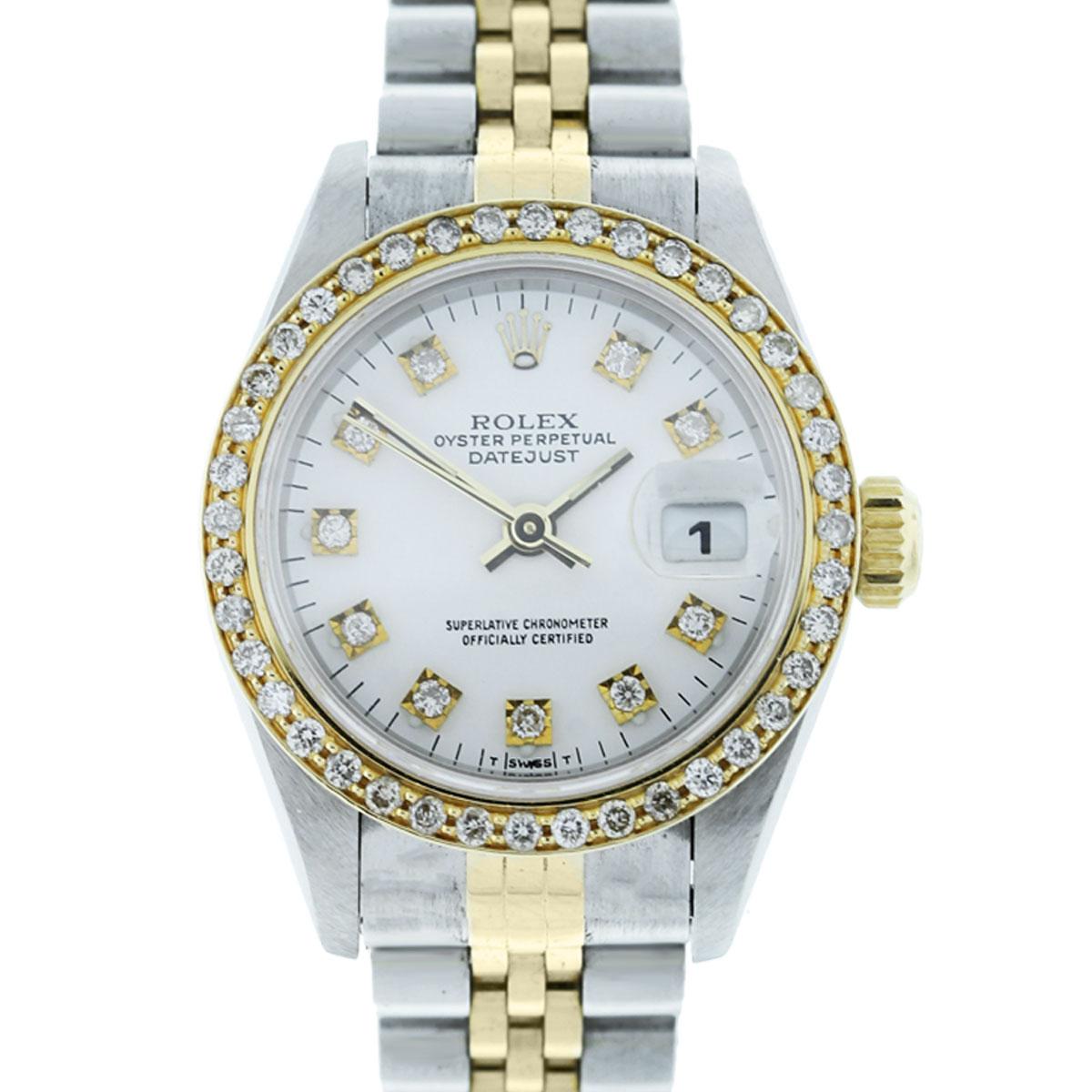Rolex Datejust 69173 Diamond Dial Amp Bezel Ladies Watch