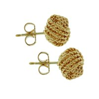 Tiffany & Co. 18k Gold Knot Earrings - Boca Raton